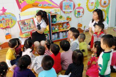 Tình yêu bao la của giáo viên mầm non dành cho các con qua những bài giảng