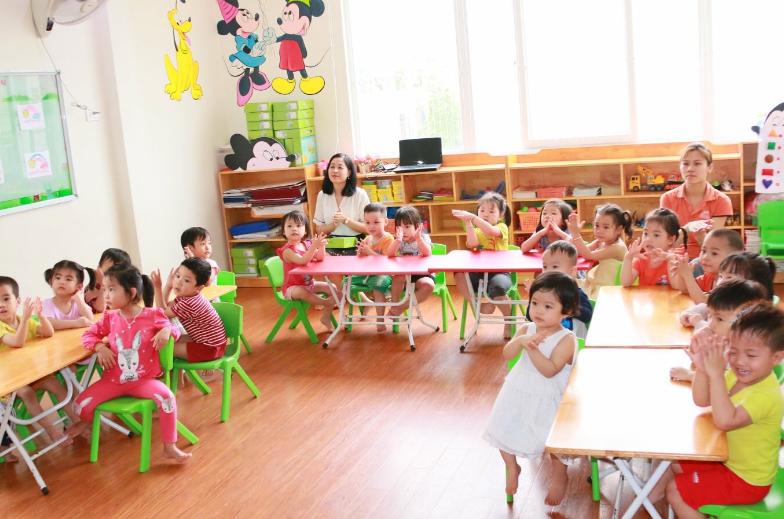 Giao viên mầm non trong việc dạy dỗ trẻ